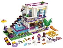 BELA 10498 Friends Series Livi's Pop Star House Building Blocks For Girl Kids Model Toys Minifigures Marvel Compatible Legoe