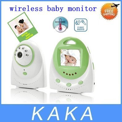 Digital Wireless Camera Voice Control Baby Monitor,2.4 Inch LED Screen Camera Night Vision Green
