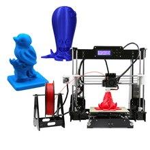 Анет A8 Обновлен высокая точность рабочего стола 3D-принтеры RepRap Prusa i3 DIY Наборы акрил Рамка печати и 1 рулон pla нити