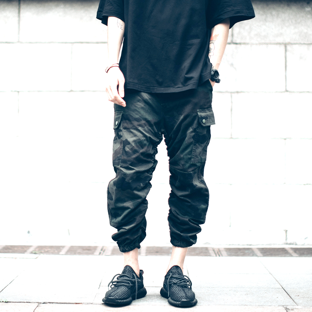 2018 New HIPHOP joggers Pants Ankle-Length Pants Cargo Pants camo fashion high street wear cool man Sweatpants Trousers