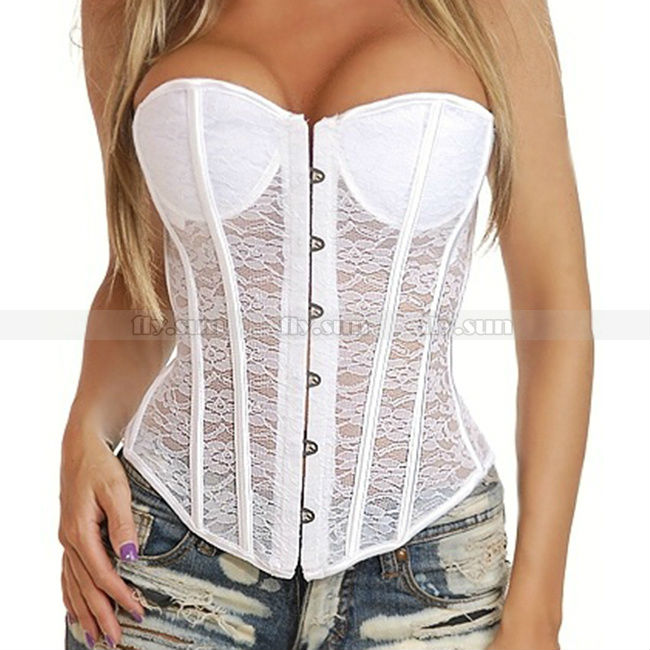 New Busiter Boned Lace up corset skirt S M L XL 2XL