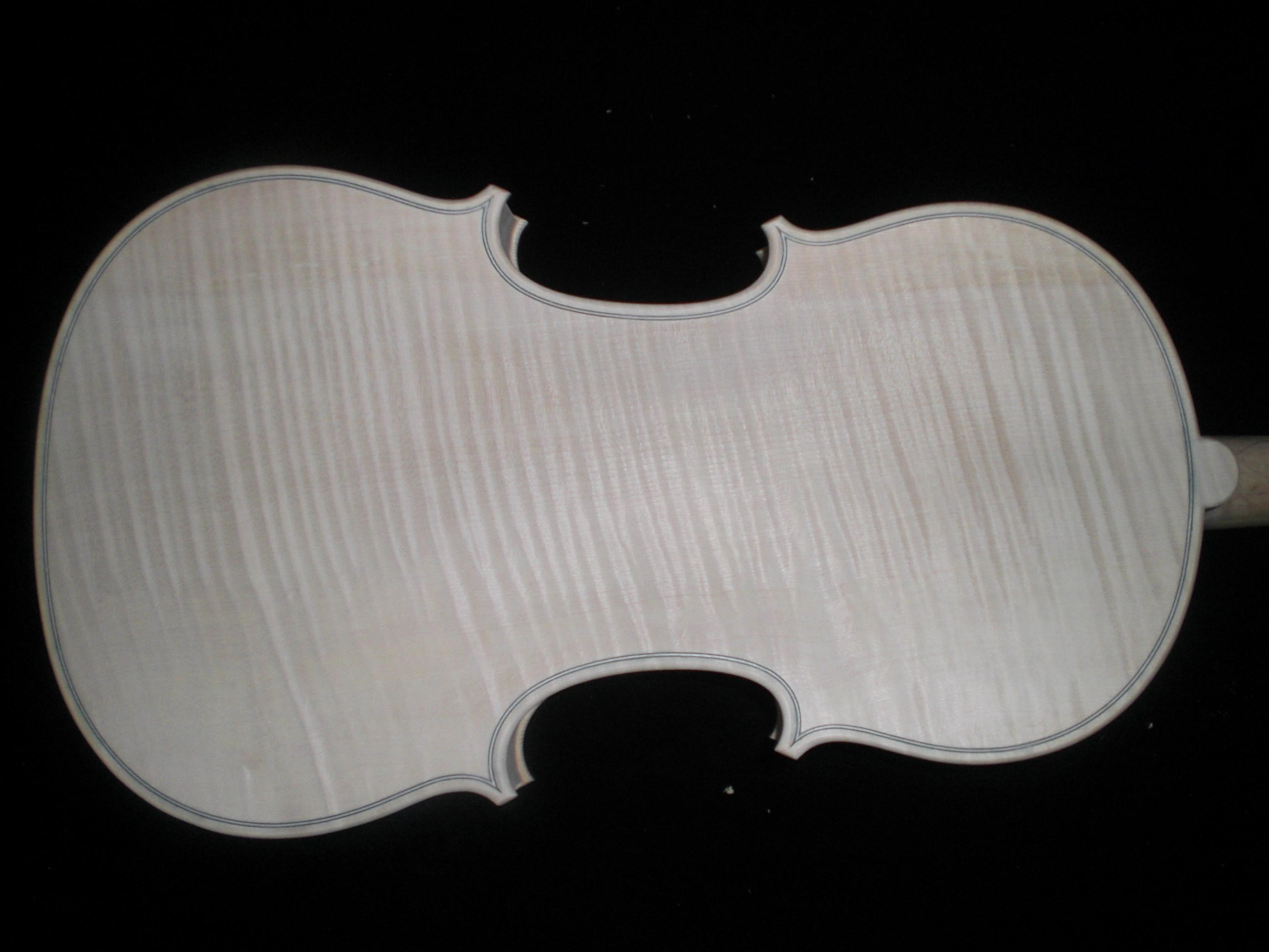 1 PC Fine Maple Whole piece back Spruce top White Violin 4/4 unfinished violin nice wood grains 18022305# one 4 string 4 4 violin electric violin acoustic violin maple wood spruce wood big jack green color