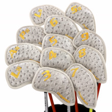 NEW Champkey 12pcs Golf Iron Cover Headcover Head Covers 3 Colors PU Leather With Breath Holes Club