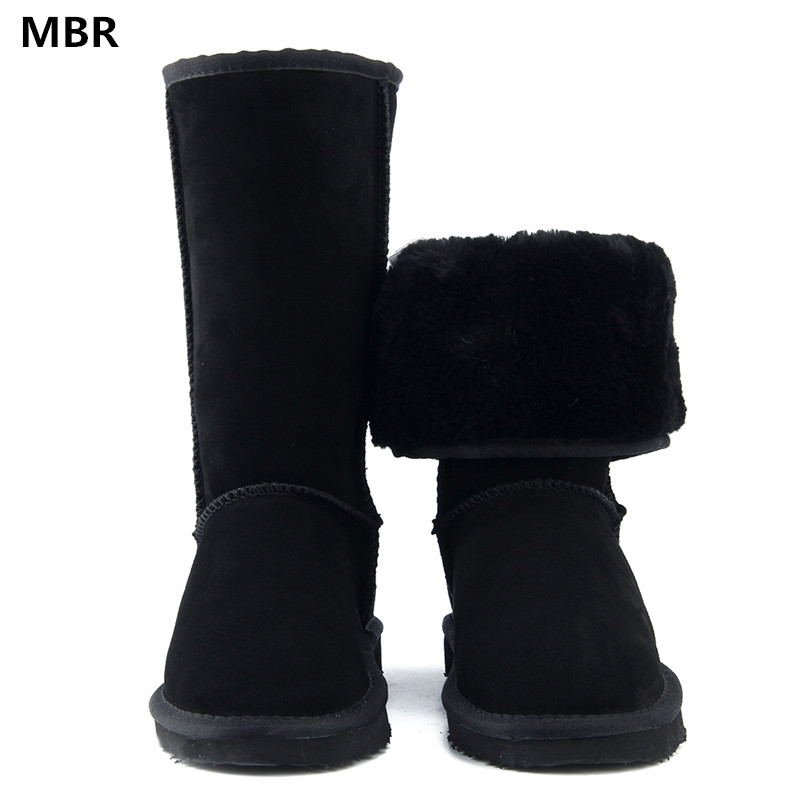 MBR High Quality Brand UG Snow Boots Women Fashion Genuine Leather Australia Classic Women's High Boot Winter Women Snow Shoes goncale high quality band snow boots women fashion genuine leather women s winter boot with black red brown ug womens boots