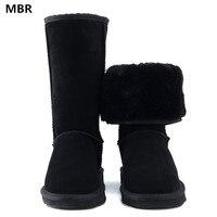 MBR High Quality Brand UG Snow Boots Women Fashion Genuine Leather Australia Classic Women S High