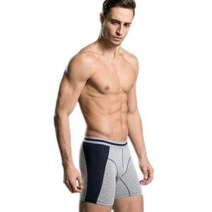 Image 4 - 4 יח\חבילה ארוך Boxershorts תחתוני גברים של מתאגרפים תחתונים סקסי Homme Calzoncillos Hombre Heren זכר תחתוני במבוק גבר Cuecas
