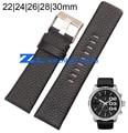 Pulseira de Couro genuíno strap pulseira Preta 22mm 24mm 26mm 28mm 30mm acessórios faixa de relógio de Pulso macio e confortável