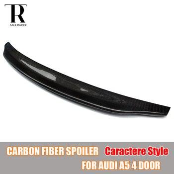 A5 Caractere Estilo Fibra De Carbono Asa Traseira Spoiler para Audi A5 4 PORTA Sedan Apenas 2009-2016 C Estilo