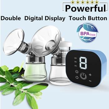 Двойной Электрический молокоотсос Emon, мощный Интеллектуальный автоматический молокоотсос для кормления детей, аксессуары с USB BPA free