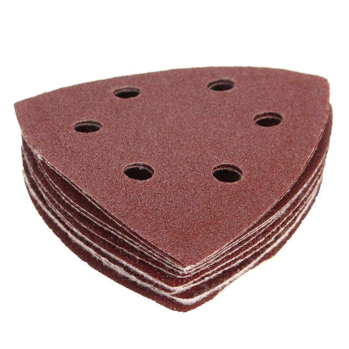 10pcs Nylon Delta Sand Paper Pads 90mm Triangles Sandpaper 40, 60, 80, 100 /120 Grit Sanding Sheets Abrasive Woodworking Tools