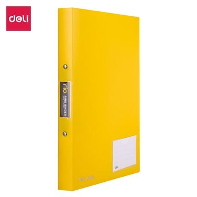 Deli 1 дюйм 2 уплотнительное кольцо Биндер A4 Цветной ПП файл E39576 - Цвет: Цвет: желтый