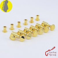 1 Set 6 In Line Genuine Grover Guitar Machine Heads Tuners 1 18 Gold Without Original