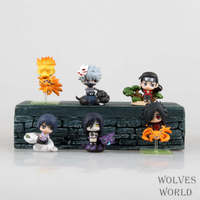 Naruto Uzumaki Naruto Orochimaru Uchiha Sasuke Uchiha Madara Hatake Kakashi Syodaime Mini PVC Action Figure Toys Dolls 6pcs/set