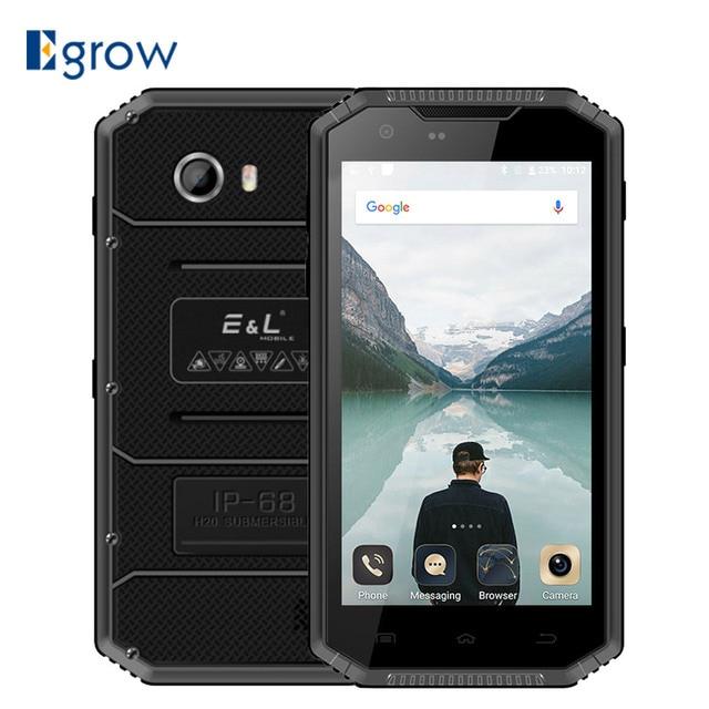 E&L W7s 4G Mobile Phone 5.0 inch Waterproof Shockproof IP68 Android 7.0 MTK6737 Quad Core 2GB RAM 16GB ROM 2800mAh Smartphone