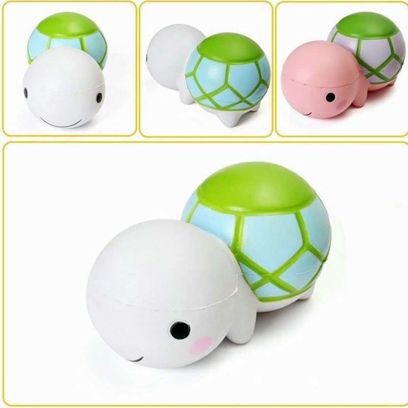 Jumbo 14CM Kawaii Cartoon Turtle Squishy Kid Toy Gift Tortoise Phone Strap Soft Slow Rising Charm Adults Relax Stress Relief Toy