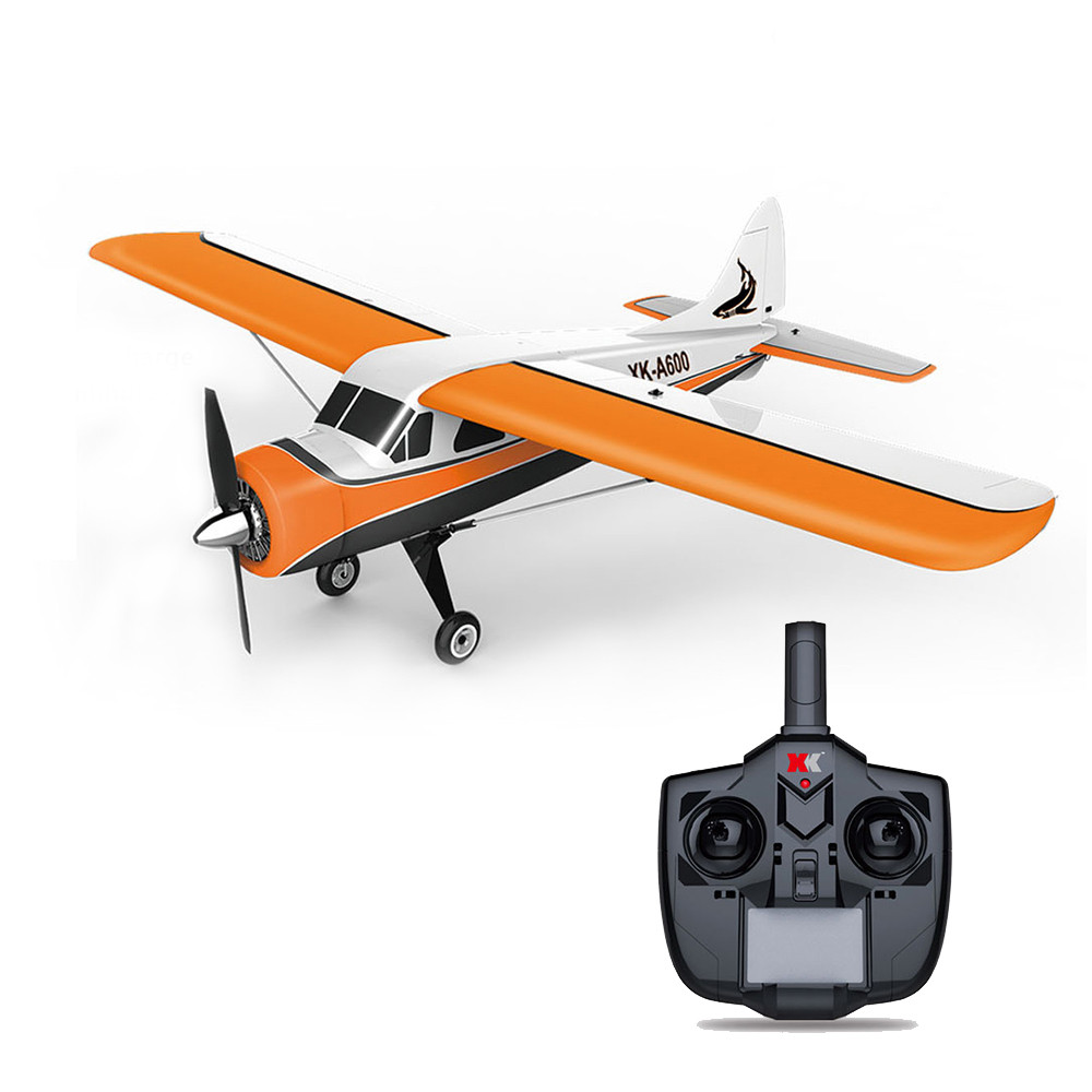 XK DHC-2 A600 4CH 2.4G Brushless Motor 3D6G RC Airplane 6 Axis Glider Remote Control Aircraft Toy Child Birthday Present xk dhc 2 a600 rc airplane spare part plastic parts