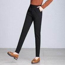 New Fashion Women 5XL Black Blue Chiffon Spring Fall Long Pencil Pants OL Tide Ladies Trousers Plus Size Gift