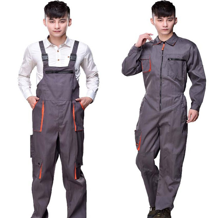 Work overalls men women protective coverall repairman strap jumpsuits trousers working uniforms Plus Size sleeveless coveralls (6)