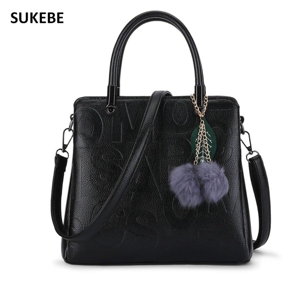 bb73608dea3a Новый Для женщин сумки 2018 модные женские туфли кожа Сумки Высокое  качество Письмо печати сумки бренда сумка Bolsa feminina