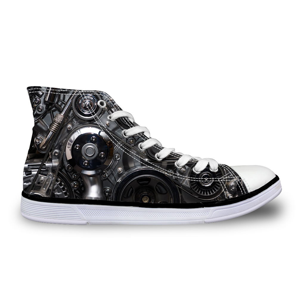 Noisydesigns Hoge top canvas Heren sneakers vintage gevulkaniseerd - Herenschoenen - Foto 4