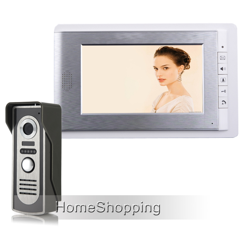 Wholesale New Apartment 7 LCD Color Screen Video Door Phone Intercom System + Waterproof Doorbell Camera In Stock FREE SHIPPING exported quality screen printing frame 7 5x10 inch 19x25cm wholesale price door to door