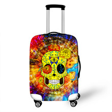 Cartoon 3D Sugar Skull Print Travel Luggage Protective Covers 18 to 28 Inch High Elastic Women Suitcase Dust Protections Cover(China)