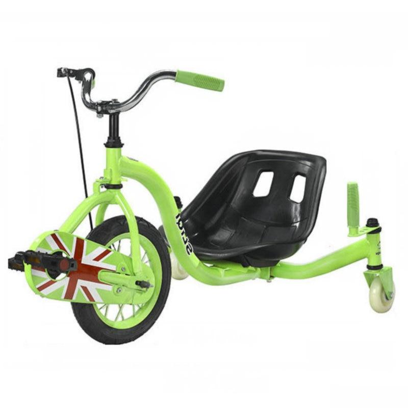 Voiture de dérive de pédale de chaîne, Tricycle de dérive d'adolescents avec la grande roue de 15 pouces, voiture de dérive de Tricycle de cadre en acier avec le frein à main