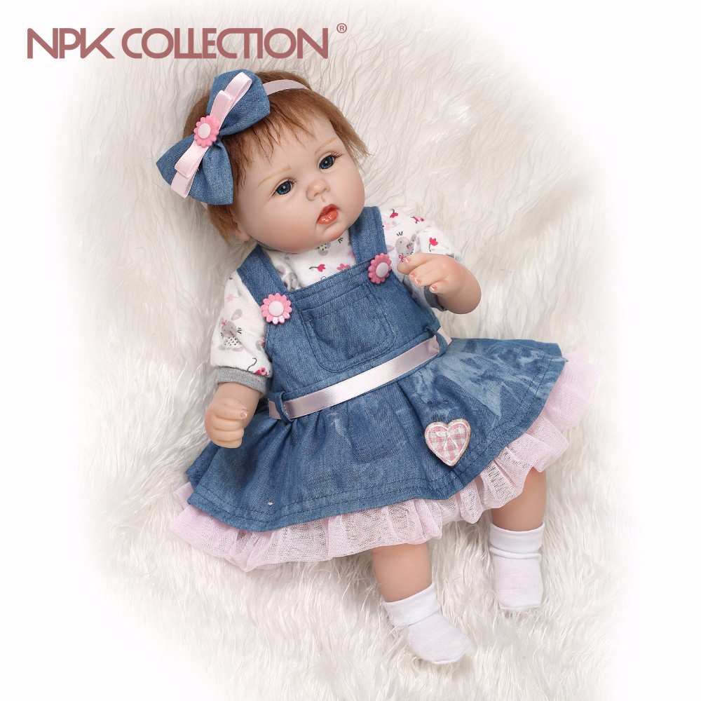 лучшая цена NPKCOLLECTION Handmade Silicone reborn baby adorable Lifelike toddler doll Bonecas girl kid menina de silicone lol doll for kids