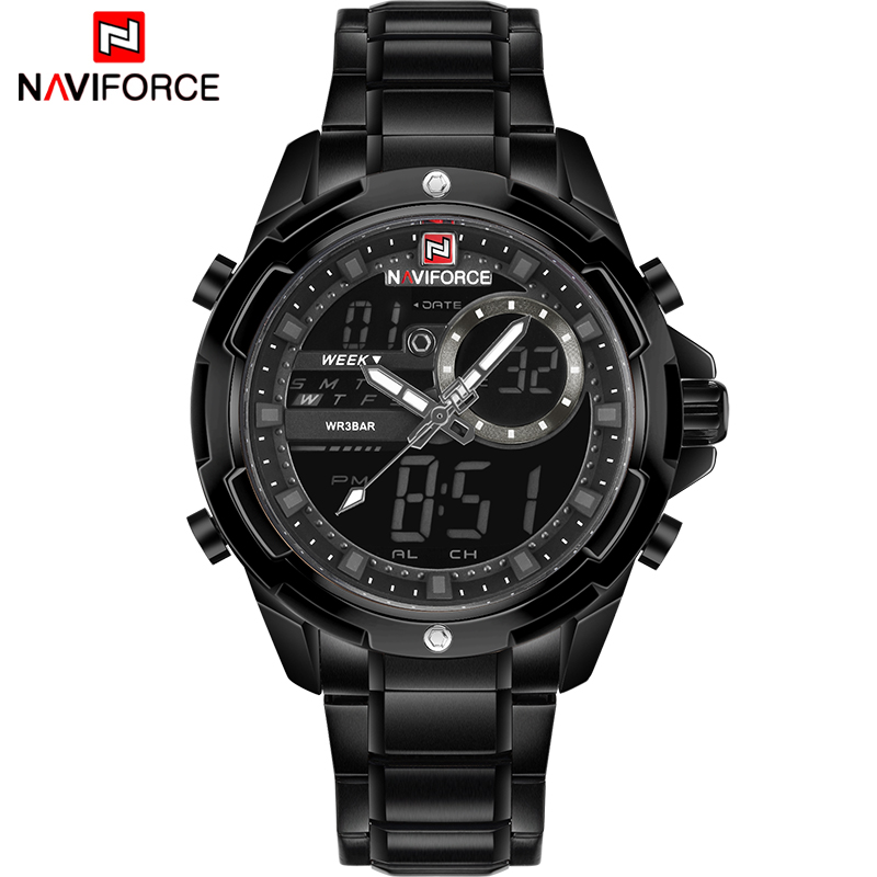 NAVIFORCE Luxury Brand Men LED Digital Sports Watches Male Waterproof Quartz Clock Mens Military Wrist Watch Relogio Masculino top luxury brand men military waterproof rubber led sports watches men s clock male wrist watch relogio masculino 2017