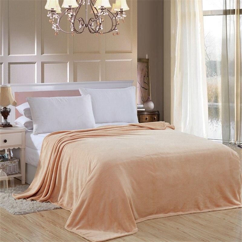 Flanella di colore solido biancheria da letto divano Getta morbido Plaid piatto invernale Lenzuolo gemello pieno queen king size coperte di Buona qualità