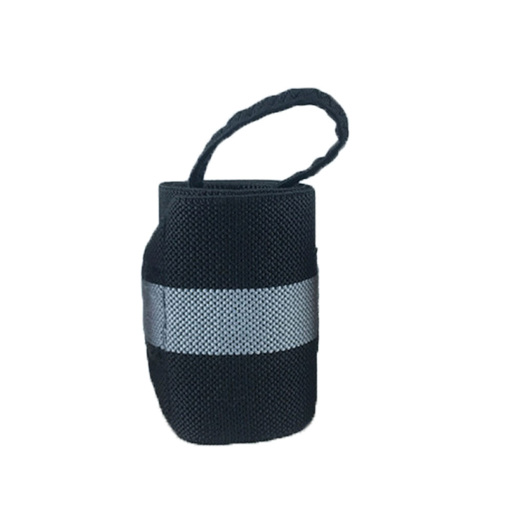 1 шт. вес для подъема кистевой ремень Фитнес Спорт бандаж регулируемая опора для запястья - Цвет: Grey
