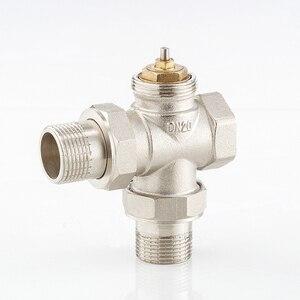"""Image 3 - 1/2 """"3/4"""" 1 """"messing drei Weg Thermostatventil DN15 DN20 DN25 Automatische Temperatur Regelventil Fußbodenheizung heizung"""