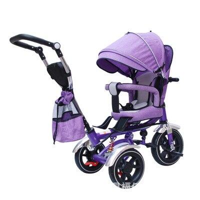 Siège pivotant réglable pour enfants 4 en 1 tricycle pour tricycle à ressort amortisseur inclinable