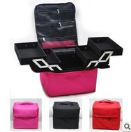 ФОТО 3layer Professional cosmetic tool bag case,Luxury Design folding Beauty storage Makeup Cosmetic Nail Tech orgnizer Bag Case