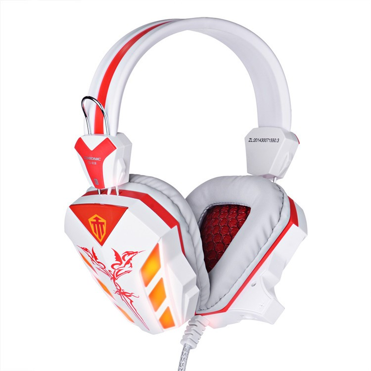 Cosonic CD-618 40mm Driver Unit Two-channel Stereo Gaming Headset Headphones with Volumn Control Mic LED Light for PC Computer (19)