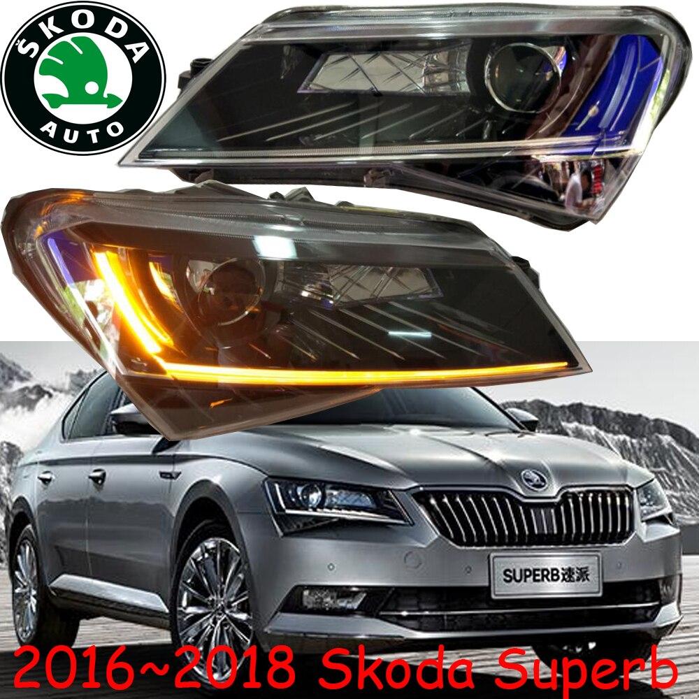 car-styling,2016~2018,Superb headlight,Free ship!Superb head light,LED,HID bulb,Fabia,octavia,rapid,yeti