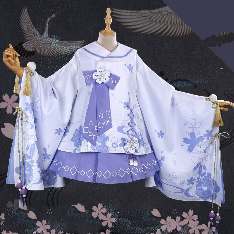 My Hero Academia Toga Himiko Cosplay Costume Sakura Kimono Dress  Halloween Carnival Dresses Anime Clothes