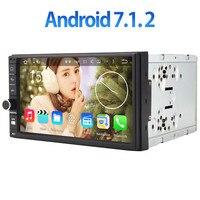 Android 7 1 2 GPS Navigation Bluetooth 2GB RAM 2Din Quad Core Universal Car Multimedia System