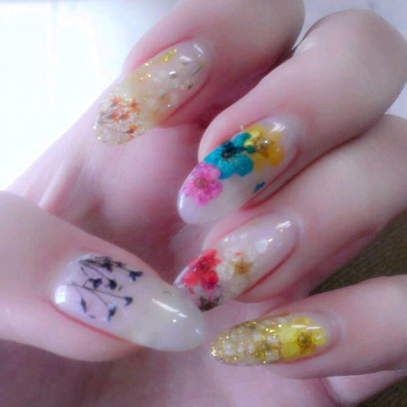 36pcs Dried Flowers Nail Art Decoration Special Design Nail Diy Tips