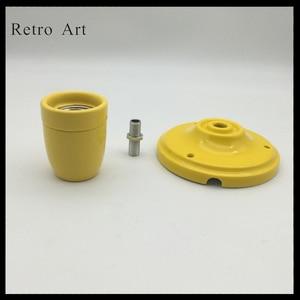Image 2 - Prosty E27 E26 ceramiczny wisiorek kinkiet sufitowy porcelanowy wisiorek przewód do lampy zestaw