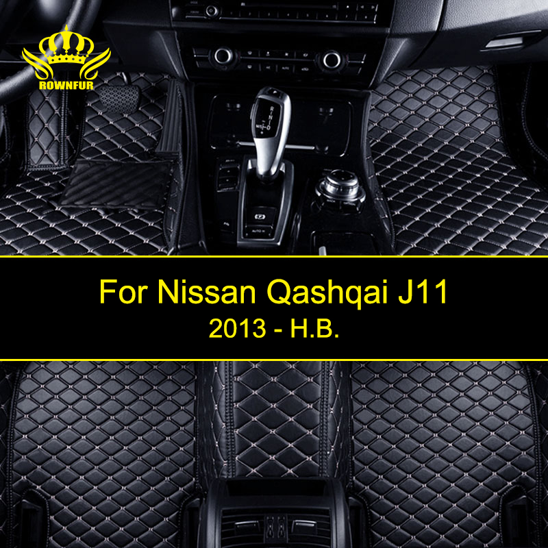 Custom Car Floor Mats For Nissan Qashqai J11 According To Car Model Four Seasons Artificial Leather Carpet Mats Protect Car Mats цена