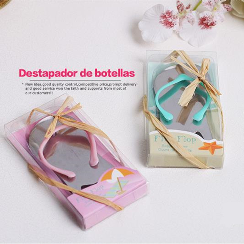 Pop the Top Flip Flop Bottle Opener Wedding Favors Gift bule color 100pcs