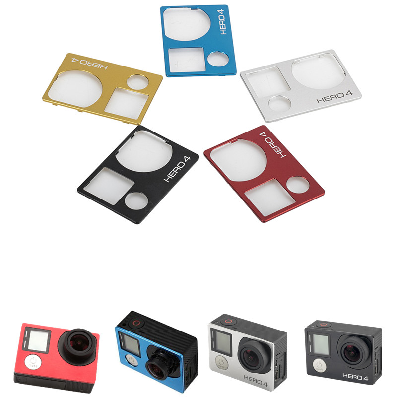 5 Color Aluminum Front Cover Faceplate Repair Replacement Part For GoPro Hero 4 Front Panel Face Cover