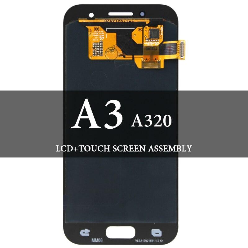 Pour Samsung A3 2017 A320 LCD Super AMOLED LCD avec remplacement de l'assemblage de numériseur d'écran tactile pour l'écran Samsung A320