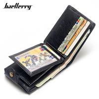 Baellerry Brand Designer Men   Wallet   Coin Bag Inside Leather Male Small   Wallets   Card Holder Man Purse High Quality Men's Carteira