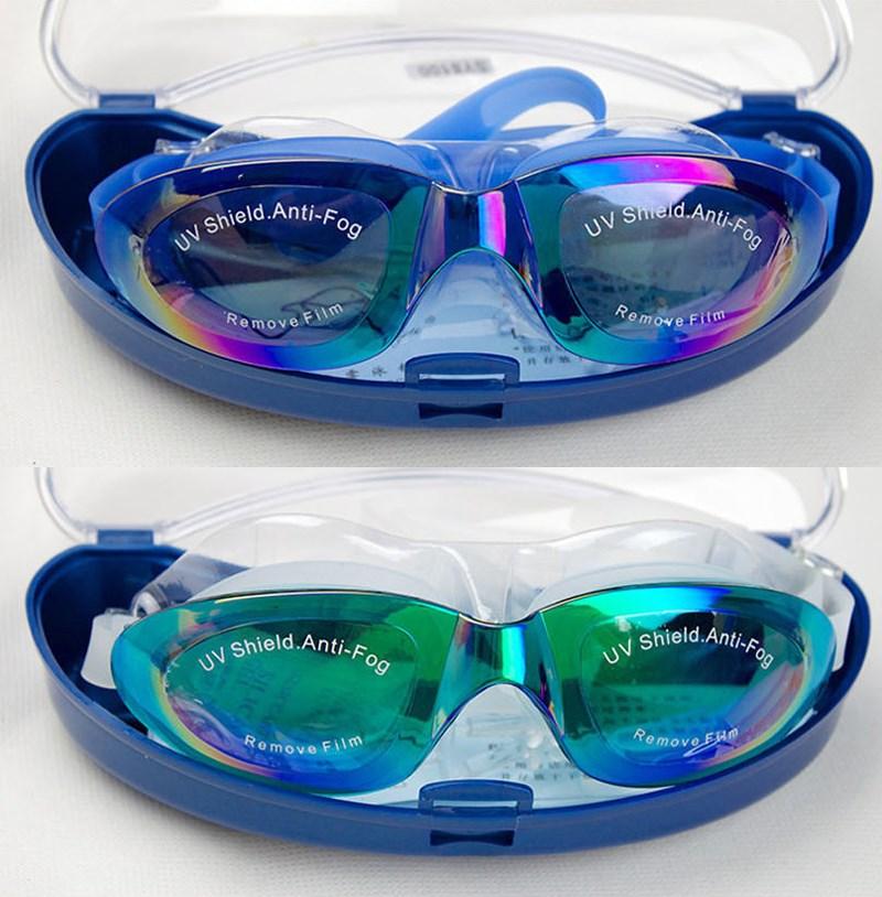 Unisex Professional Swimming Glasses Goggles Electroplate Anti Fog UV Protection Waterproof Swim Pool Eyewear Swimwear Accessory in Swimming Eyewear from Sports Entertainment