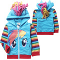 Trade girls boys my little girl pony zip hoodie jacket coat cute cartoon kids casual terry Sweatshirts children clothing