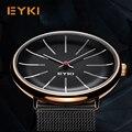 Часы EYKI мужские  классические  из нержавеющей стали  кварцевые  с коробкой