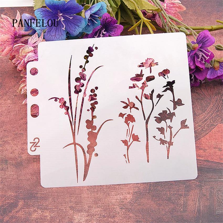 The Verbena Scrapbook Stencils Spray Plastic Mold Shield DIY Cake Hollow Embellishment Printing Lace Ruler Valentine