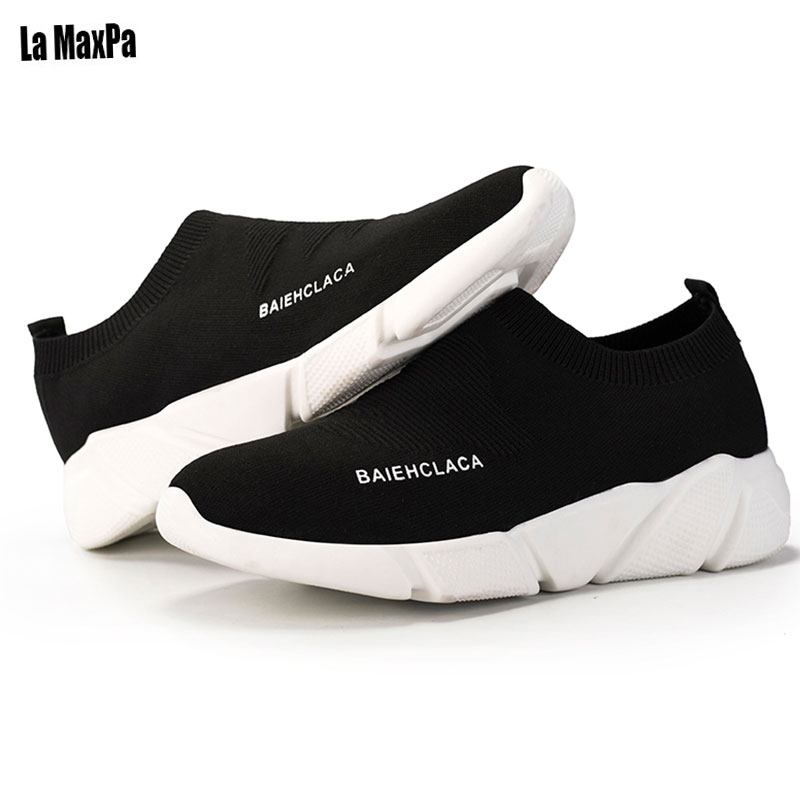 2018 running Sport Shoes For Couple Breathable Mesh Light Slip On Sneakers Men Shoe Shose 2018 Summer Outdoor Walking Shoes